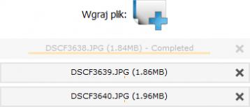 system CMS, uploader plików, lista